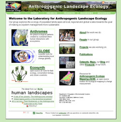 Welcome to the Laboratory for Anthropogenic Landscape Ecology